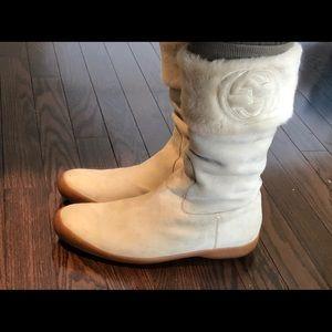 Cream Gucci Winter Boots
